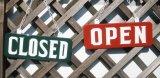 OPEN/CLOSEDプレートLサイズセット