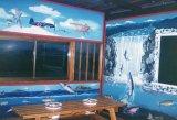 焼肉店の店内壁画