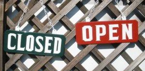 画像1: OPEN/CLOSEDプレートLサイズセット