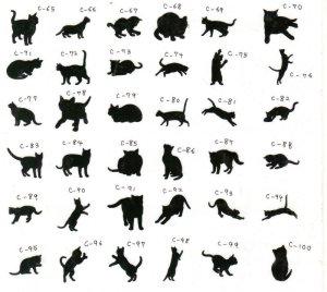 画像2: 猫ポーズシルエット